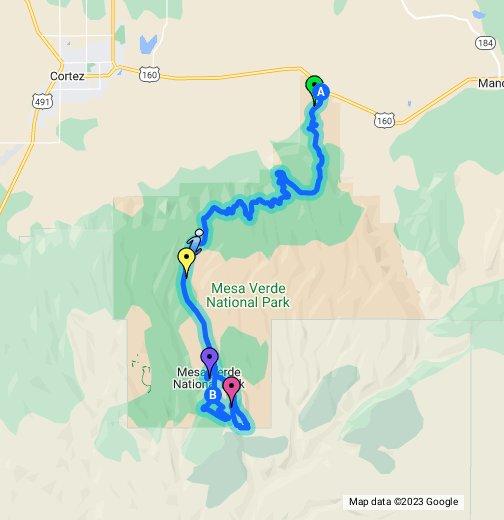 Mesa Verde National Park Map Mesa Verde National Park, Colorado   Google My Maps