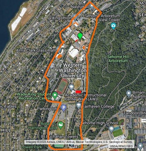 WWU Game Boundaries - Google My Maps