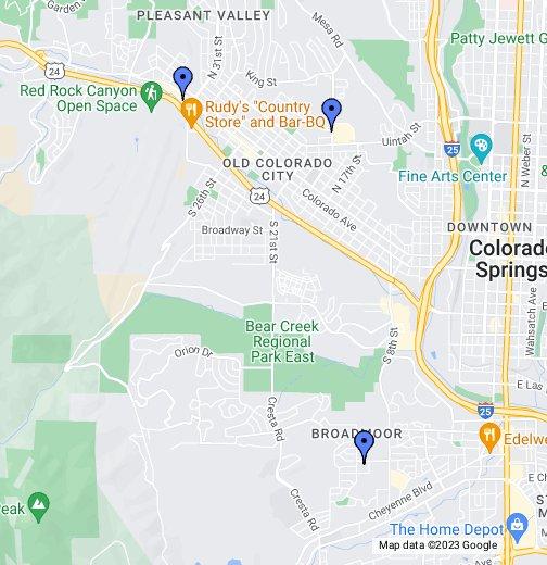 A few Colorado Springs dive bars - Google My Maps