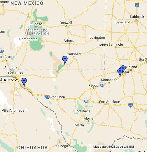 Odessa TX - Google My Maps