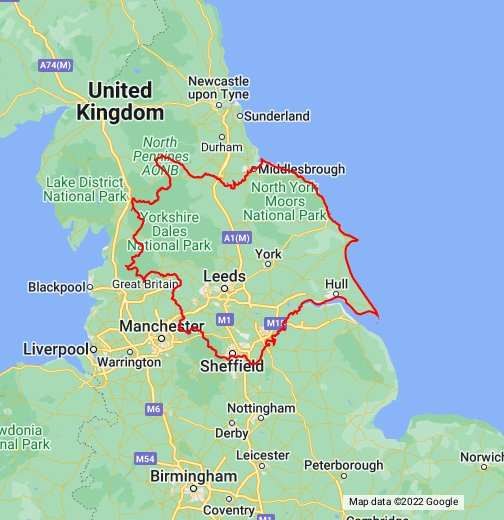 Map of Yorkshire   Google My Maps