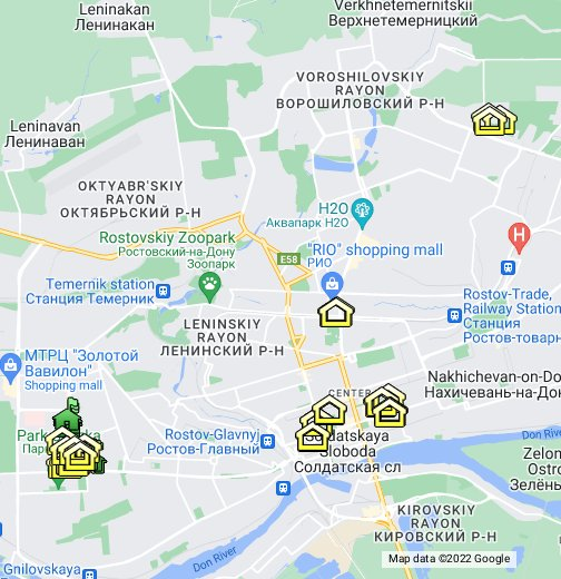 SFedU - campus in Rostov-on-Don - Google My Maps