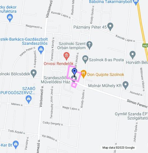 szandaszőlős térkép Szandaszőlősi Általános Iskola, Művelődési Ház és Alapfokú