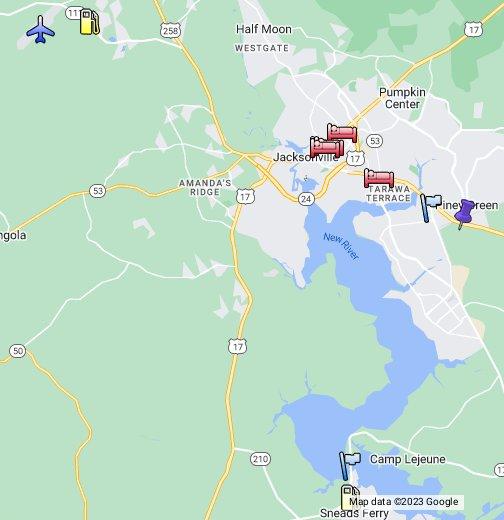 Camp Lejeune, NC - Google My Maps on