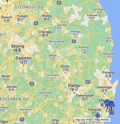 Ulsan, South Korea - Google My Maps