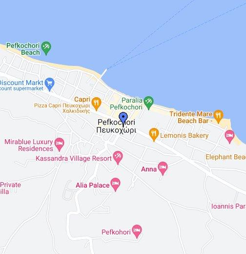 mapa beograda sa ulicama satelit Pefkohori Halkidiki   Google My Maps mapa beograda sa ulicama satelit