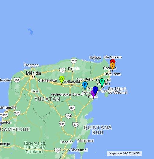 Yucatan Peninsula Map - Google My Maps