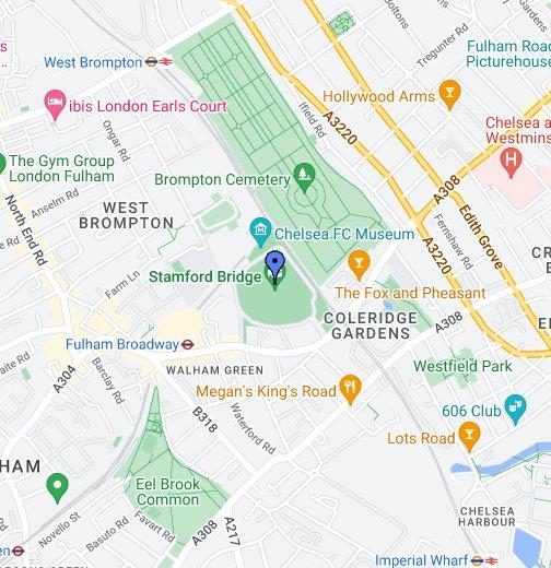 Stamford Bridge - Google My Maps on
