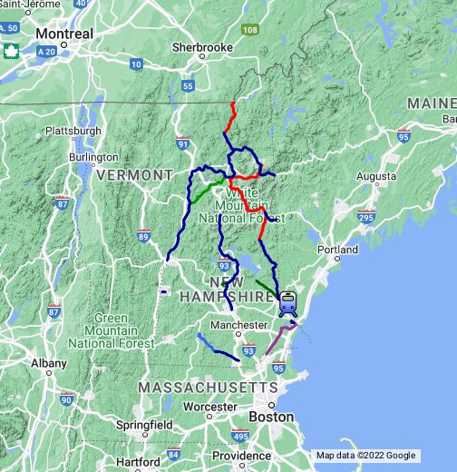New Hampshire Active Rail Lines   - Google My Maps