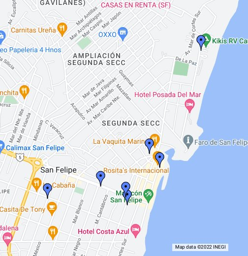 Golfo De Mexico Map.Baja California Mexico Eats Google My Maps