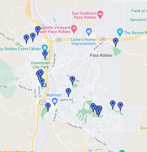 City of Paso Robles Parks and Facilities - Google My Maps Downtown Paso Robles Map on visalia downtown map, san bernardino downtown map, fremont downtown map, morgan hill downtown map, carlsbad downtown map, stockton downtown map, bakersfield downtown map, riverside downtown map, laguna beach downtown map, olympia downtown map, fresno downtown map, santa ana downtown map, burbank downtown map, lompoc downtown map, walla walla downtown map, healdsburg downtown map, buena park downtown map, temecula downtown map, monterey downtown map, san clemente downtown map,