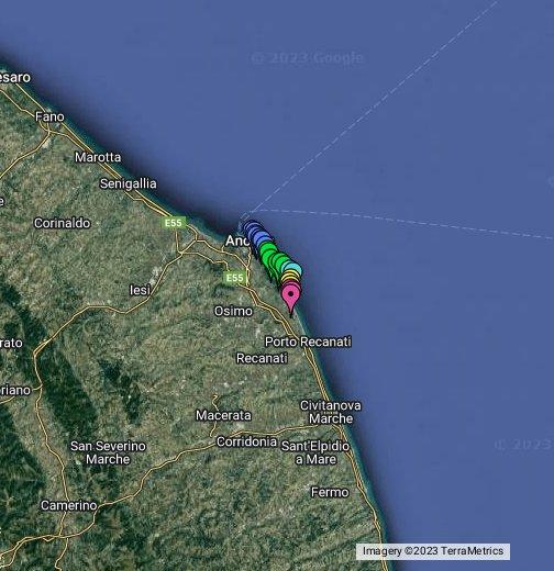 Cartina Marche Conero.Le Spiagge Ed I Sentieri Del Conero Google My Maps