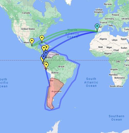 South Seas Trade Map - Google My Maps