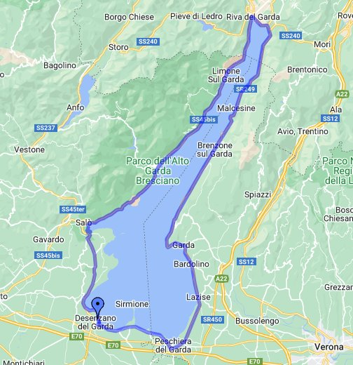 Lake Garda Map Around Lake Garda   Google My Maps Lake Garda Map