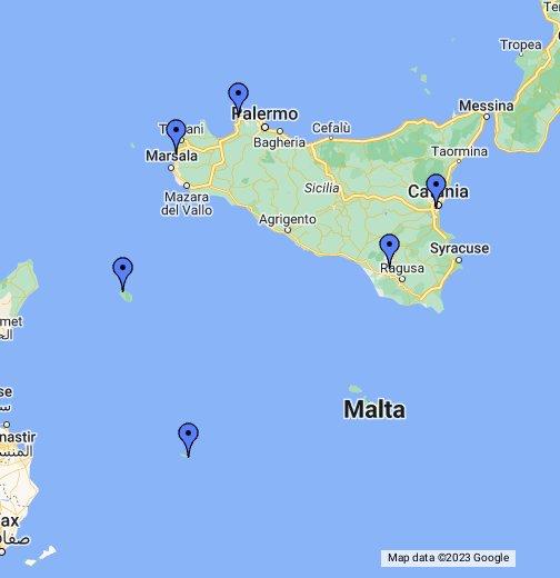Aeroporti In Sicilia Cartina.Aeroporti Civili In Sicilia Google My Maps
