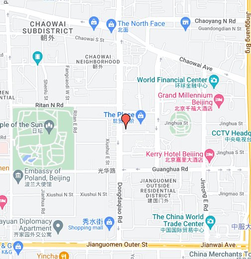 The Place Beijing Shopping Mall – Map World Financial Center