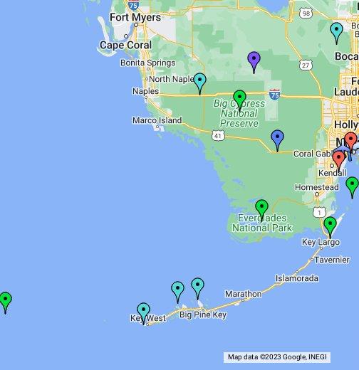 Map Of Southern Florida And Keys