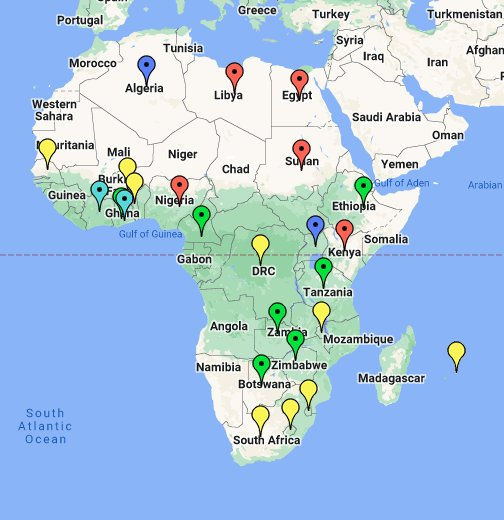 kart over afrika google Map of Africa   Google My Maps kart over afrika google