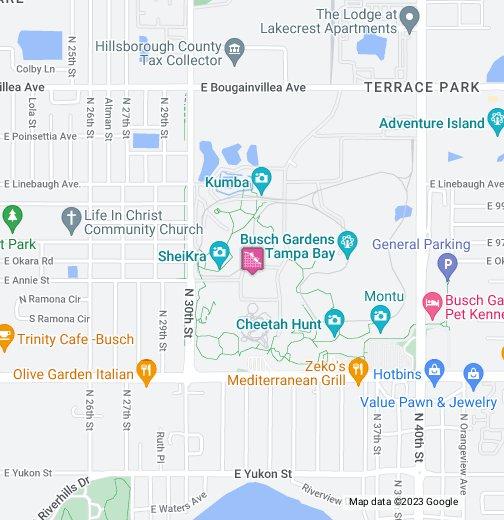 Busch Gardens Tampa Bay - Google My Maps
