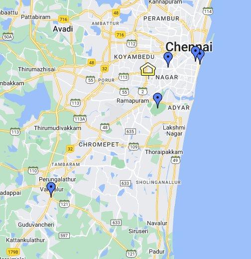 Satellite Map Of Chennai Chennai   Google My Maps Satellite Map Of Chennai
