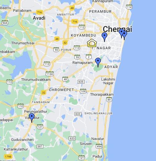 Chennai   Google My Maps