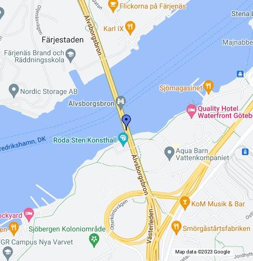 bergakungen göteborg karta Nya Älvsborgsbron – Google Mina kartor bergakungen göteborg karta