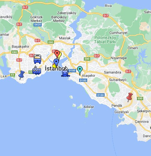 Ataturk Airport Map Airports & Transfers in Istanbul, Turkey   Google My Maps