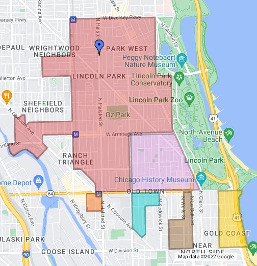Permit Parking Chicago Map.43rd Ward Parking Zones Google My Maps