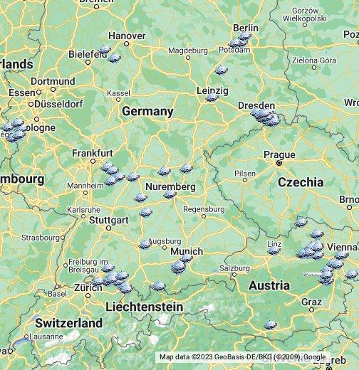 www ausztria térkép hu Ausztria Németország Svájc   Útikalauz célpontok – Google Saját  www ausztria térkép hu
