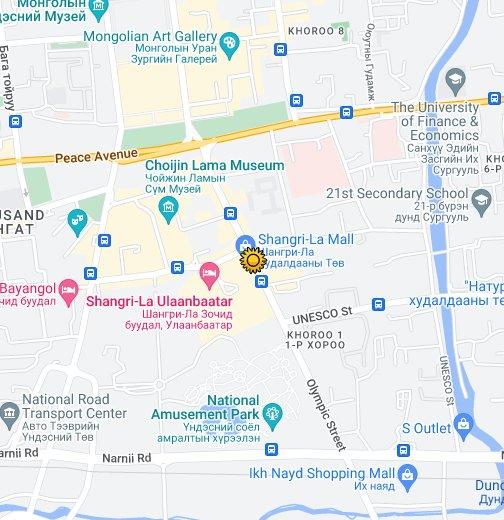 Ulaanbaatar - Google My Maps