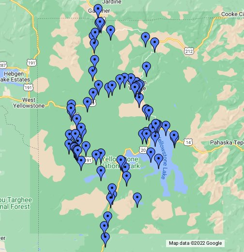 Yellowstone National Park Karte.Yellowstone National Park Google My Maps
