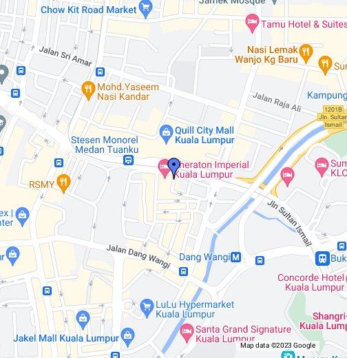Sheraton Imperial Kuala Lumpur Hotel - kuala lumpur map