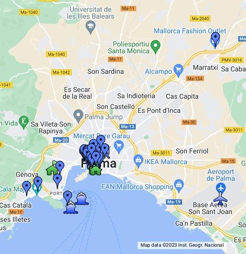 Mapa Palma De Mallorca.Palma De Mallorca Mapa Google My Maps