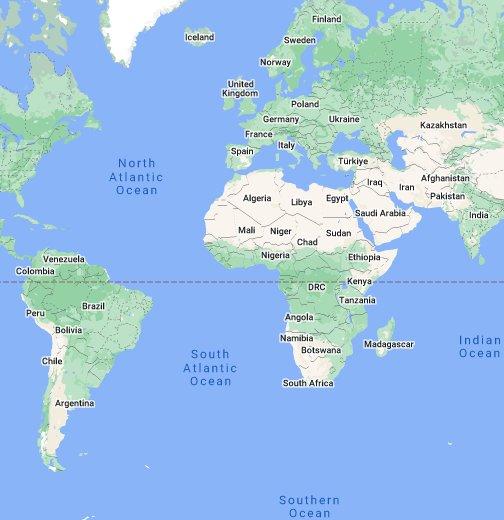 Маяки мира - Google My Maps