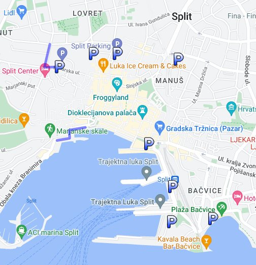 parkpl tze in split kroatien google my maps. Black Bedroom Furniture Sets. Home Design Ideas
