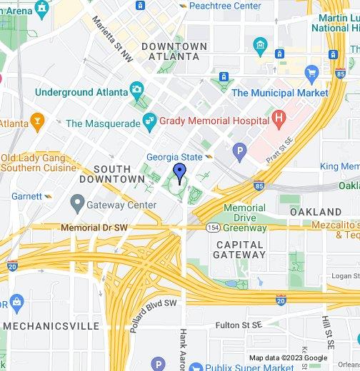 Atlanta USA GA - Ga map google