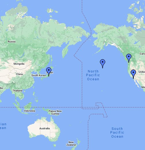 US Aircraft Carrier Locations - Google My Maps