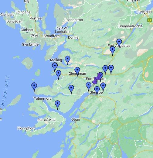 Fort Williams Scotland Map.Visit Fort William Ben Nevis Lochaber Google My Maps