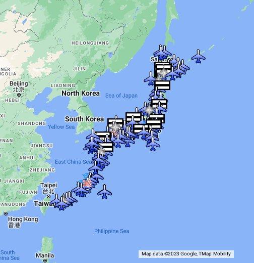 Airport Map Of Japan Japan Airport Map - Japan map data