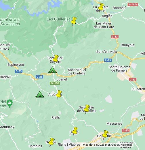 Sant Hilari Sacalm Mapa.Poparb Allotjament Google My Maps