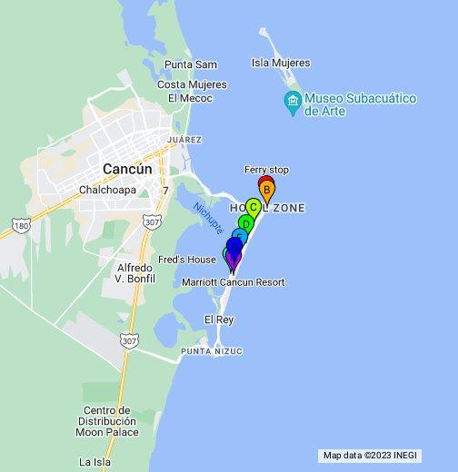 Cancun Hotel Zone Map - Google My Maps on