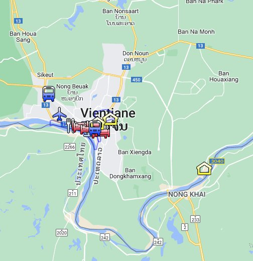 Vientiane, Laos   Google My Maps