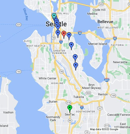 Light Rail Seattle Map Stops.Seattle Light Rail Google My Maps