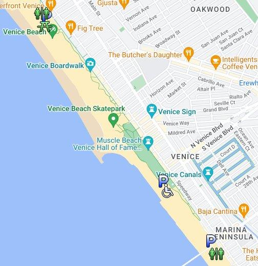 Venice Beach - Venice beach boardwalk map