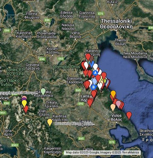δασικοι χαρτεσ Olympos Trek   Google My Maps δασικοι χαρτεσ