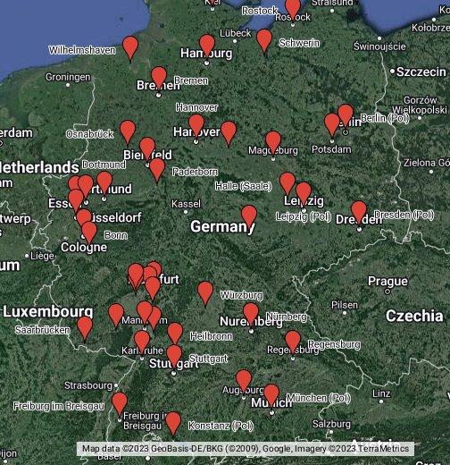 fernbuslinien deutschland karte Fernbus Simulator Karte   Google My Maps