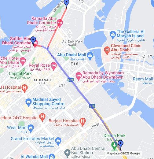 Map Of Abu Dhabi Salam Street tunnel opens in Abu Dhabi   Google My Maps