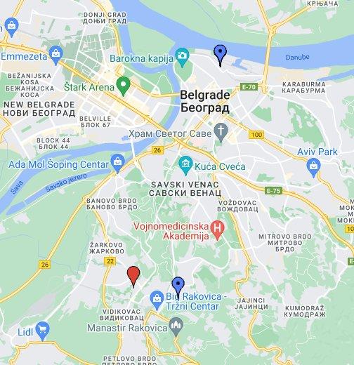 mapa beograda navigacija Plan Beograda s ulicama   Google My Maps mapa beograda navigacija