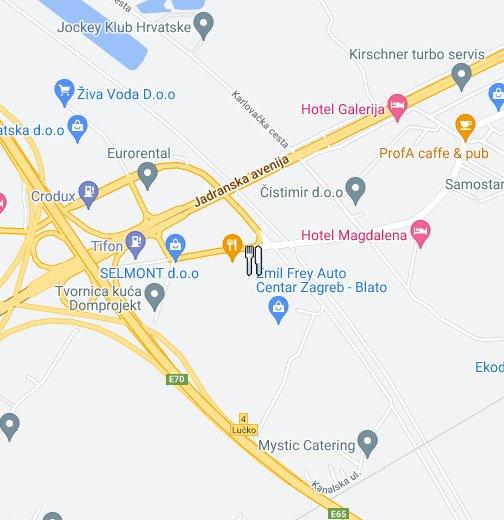 Cadena Zagreb Google My Maps