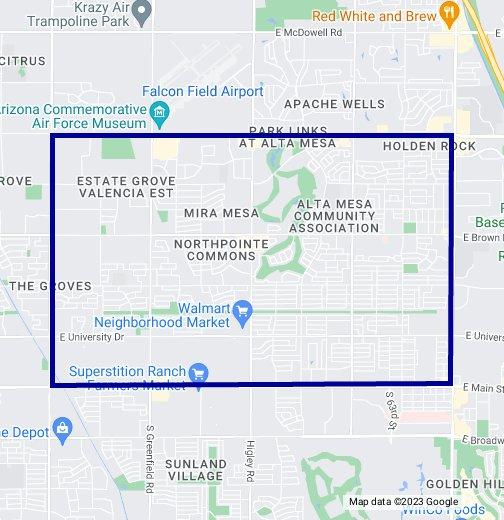 85205 Zip Code Map - Mesa, Arizona - Google My Maps on highlands resort map of az, city street maps mesa az, streets in mesa az, street map of surprise az, street map apache junction az, town of queen creek az, large map of az, falcon field mesa az, map of scottsdale az, mapquest mesa az, officemax locations mesa az, jump street mesa az, street map of maricopa az, map of queen creek az,